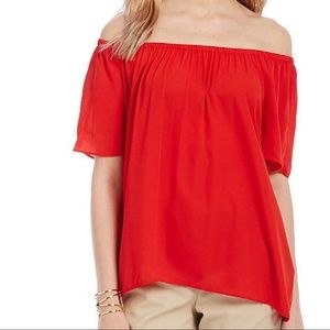 Vince Camuto Tops - Vince Camuto red off the shoulder top
